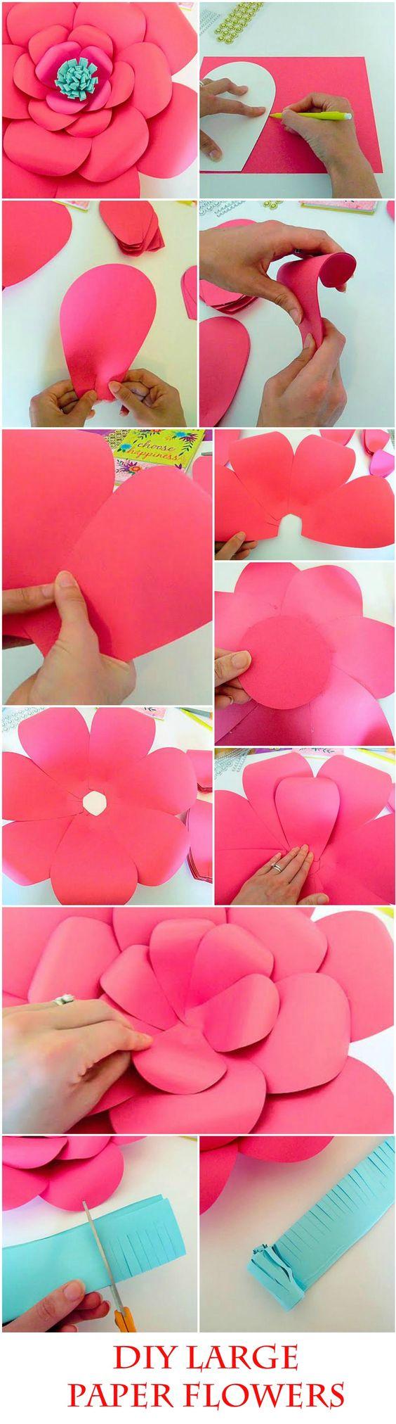 DIY Giant Paper flower templates & tutorial, DIY Paper flower making kit, SVG Paper flower cutting files, Large Backdrop flowers:
