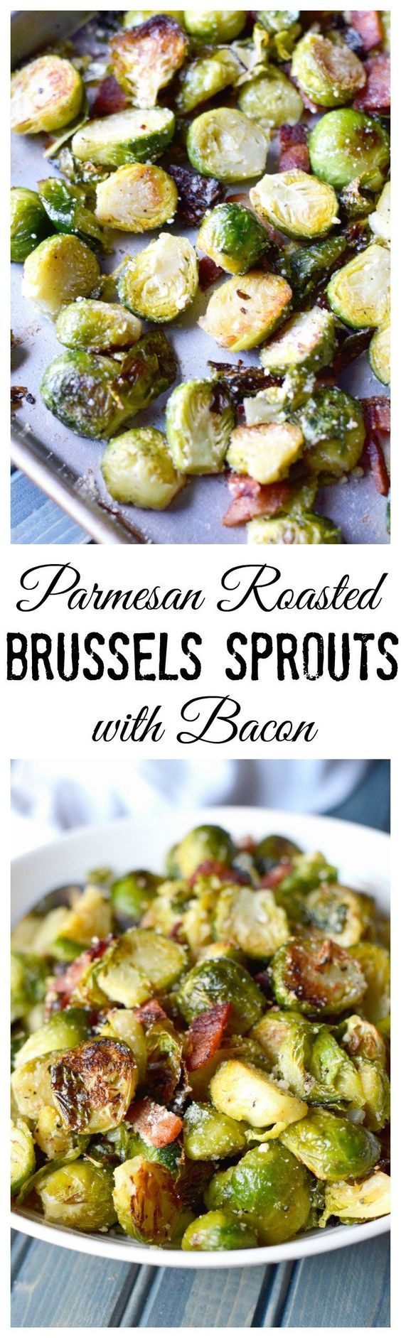 Roasted Parmesan Brussels Sprouts with Bacon Vegetable Side Dish Recipe via Butter Your Biscuit - This Roasted Parmesan Brussels Sprouts with Bacon recipe is to die for. Perfect for any Holiday side dish.