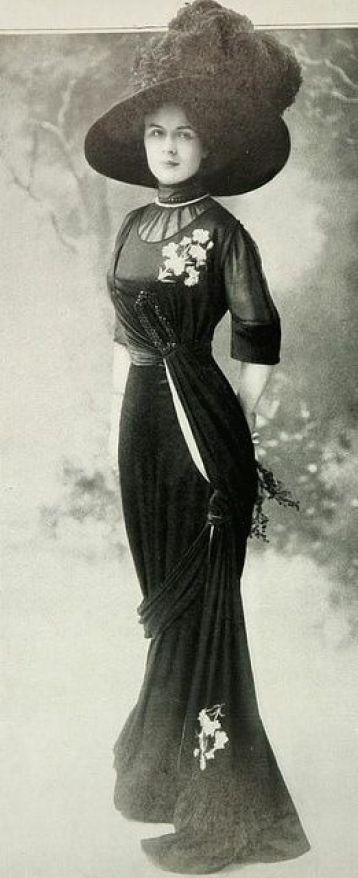 christinerod: Les Modes (Paris) November 1909 robe d'apres-midi par Margaine-Lacroix: