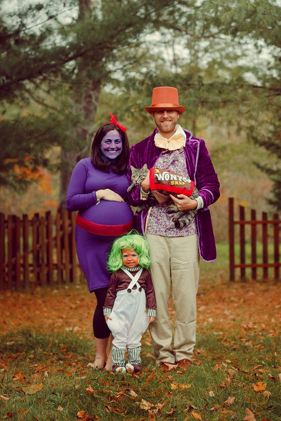 Halloween Pregnancy Costume #16: Willy Wonka and the Chocolate Factory