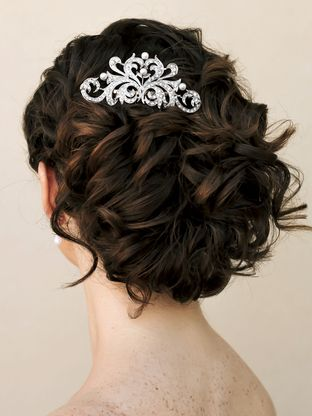 mallory rhinestone and pearl hair b bridal updo wedding jewelry and updo