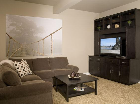 warm up your basement with balanced beige sw 7037 a on basement wall paint colors id=83751