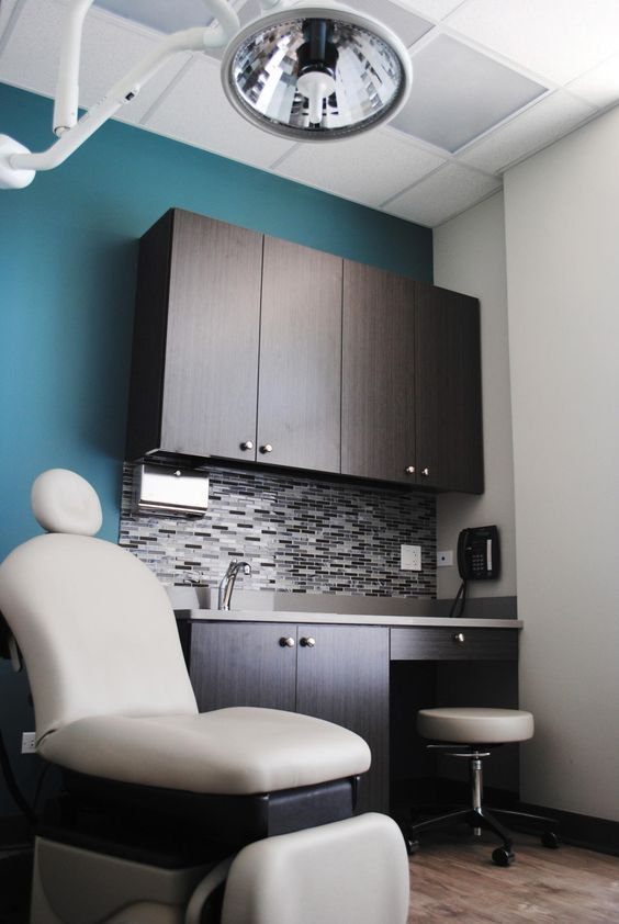 village dermatology with grey washed wood and a dusty cool on good wall colors for office id=11409