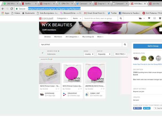 "Cara listing items yang sudah diupload; simply click ""Sell in group"""