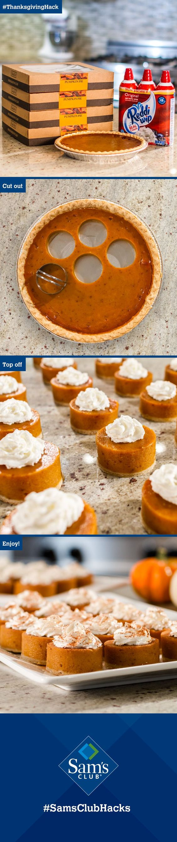 We're loving this genius trick for making mini pies! No more fighting over the biggest slice!: