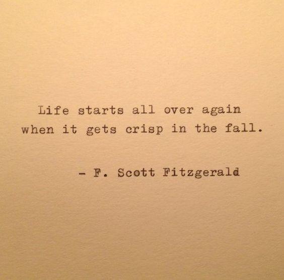 F Scott Fitzgerald Fall Quote