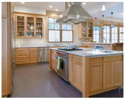 Another modern kitchen with maple cabinets | Kitchen bath ... on Gray Countertops With Maple Cabinets  id=96247