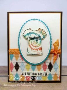Custom Tee Diana Gibbs Stampin' Up! Blog Hop Jan 2017: