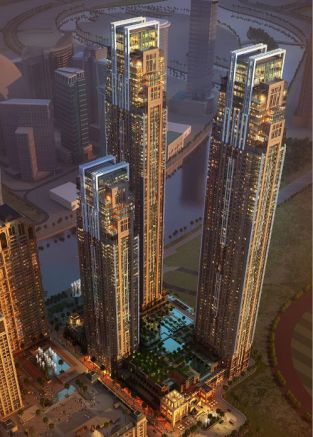 Al Habtoor City supertall twin towers