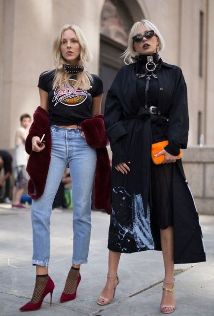 New York Fashion Week Street Style Spring 2017: The Best Moments from NYFW…:
