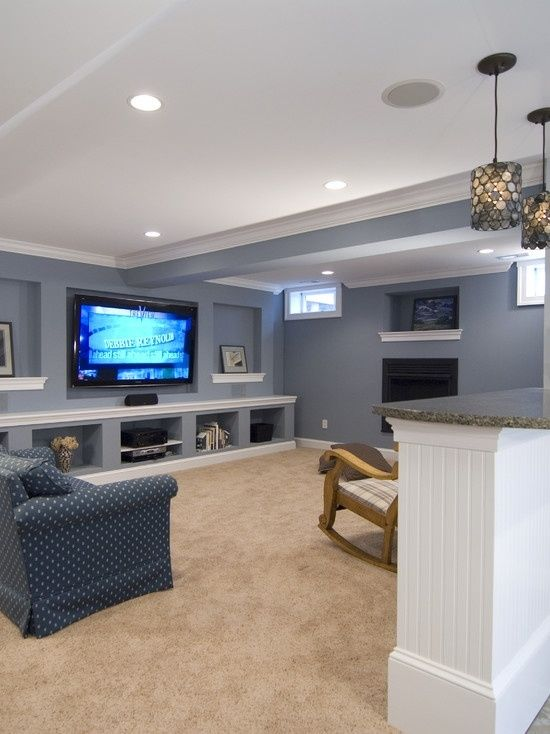what about this configuration with t v on one wall and f on basement bar paint colors id=59463
