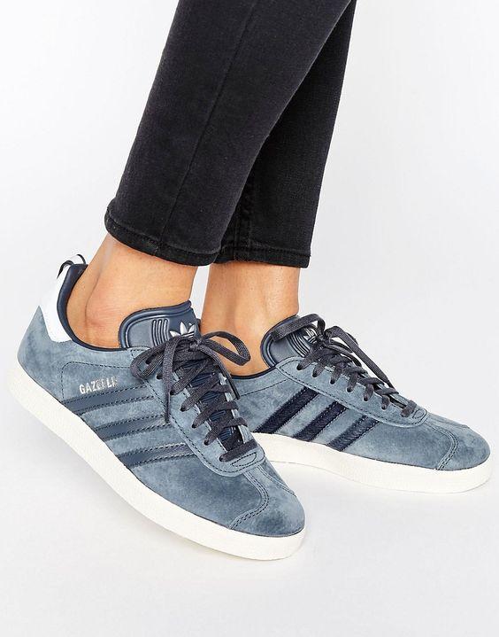 Adidas Gazelle trainers inUtiblu/silvmt