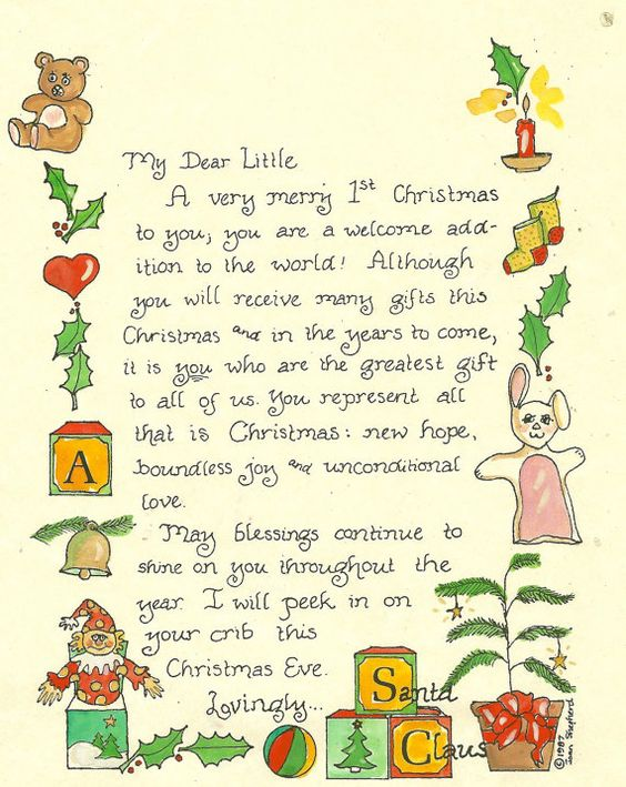 Letter From Santa For First Christmas Tugs At The Heart