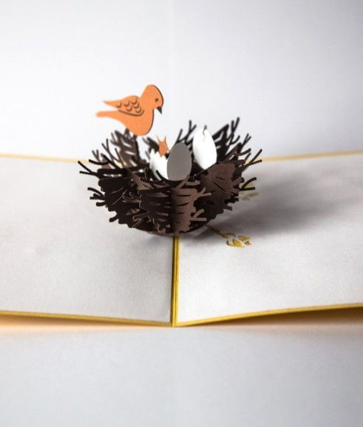 Bird Nest   Products, Pop up cards and Cards