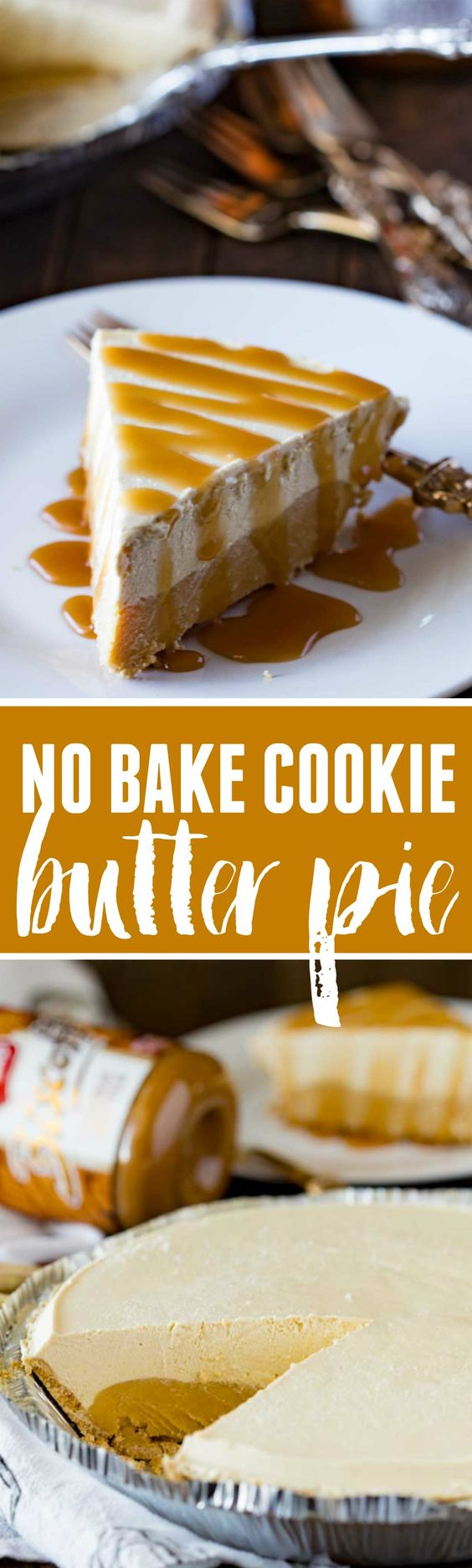 No-Bake Cookie Butter Pie Dessert Recipe via The Recipe Critic - This 5 ingredient Cookie Butter frozen pie will rock your tastebuds and make you one happy camper! Plus it takes less than 15 minutes to make, and an hour to freeze. - Favorite EASY Pies Recipes - Brunch Dessert No-Bake + Bake Musts