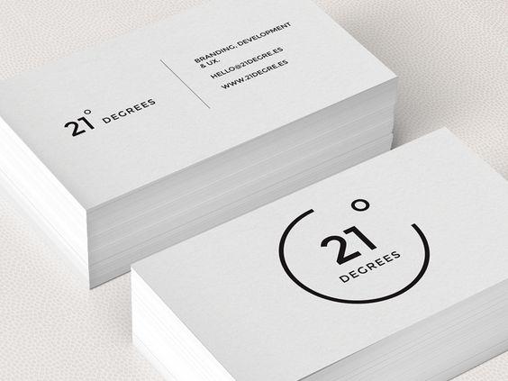 Simplistic elegant black and white business cards