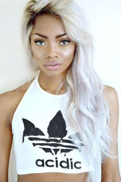 silver hair on dark skin google search characters and people pinterest silver hair grey