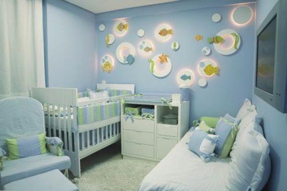 cores claras em quarto de bebê