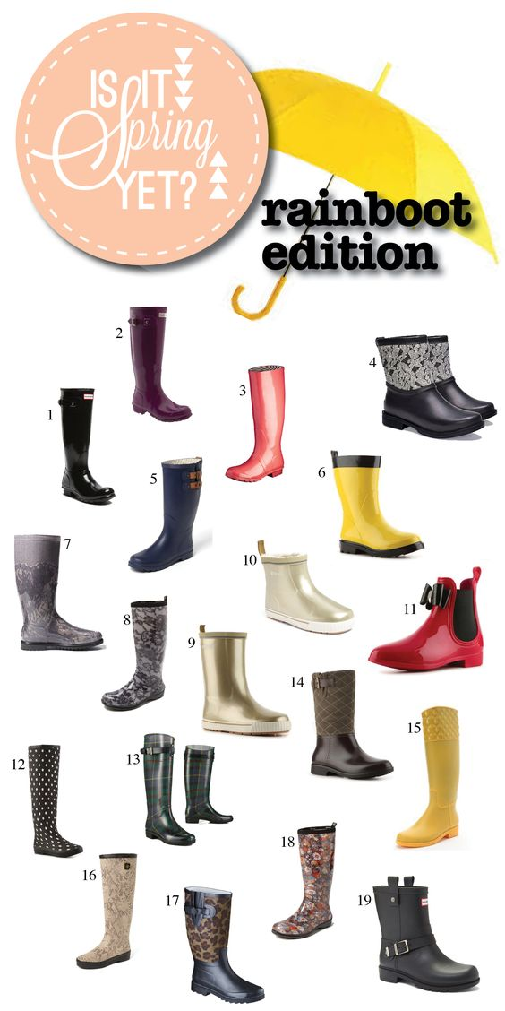 Is It Spring Yet?? Rainboots! #hunters #target #lace #tartan #spring #rainboots #ankle boots #leopard #floral #snakeskin #polkadots #metallic: