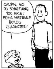 Image result for calvin and hobbes builds character