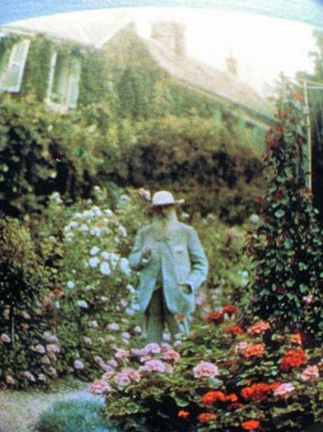 Claude Monet in his garden at Giverny. He brought his gardens to life by memorializing them for all eternity. Paint what brings you joy.: