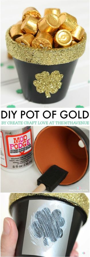 St. Patrick's Day Pot of Gold - What a fun way to wish a happy St. Patrick's Day to neighbors, family, and friends!: