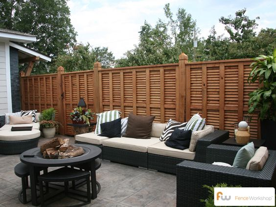 A Beautifully Designed Wood Privacy Fence. This Cedar