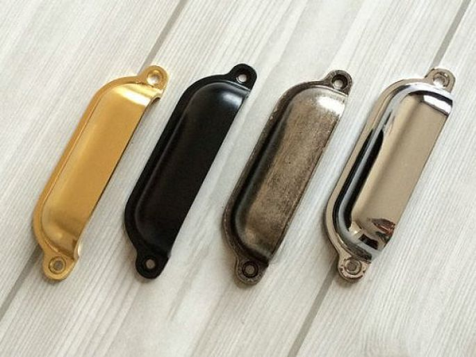 Image result for black chrome gold handles