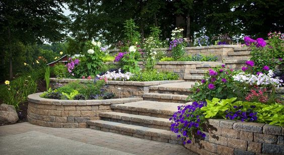 tiered landscaping | Landscaping & Outdoor decor ... on Tiered Yard Landscaping id=53791