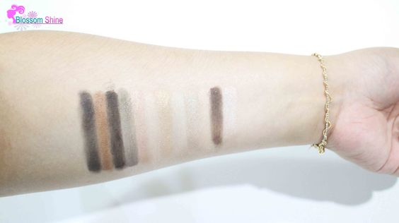 Hand Swatch with Eye Primer and is applied with brush