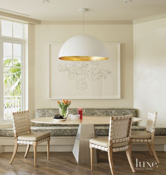 Eclectic Cream Dining Area With Open Plan Luxesource