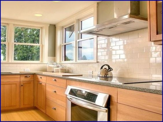 kitchen tile backsplash ideas with maple cabinets - Google ... on Gray Countertops With Maple Cabinets  id=98681