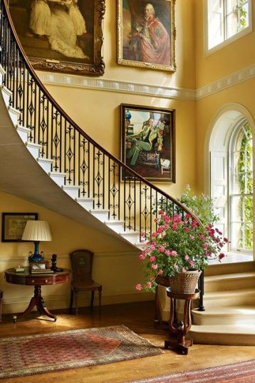 Bowood House, with its cantilevered staircase