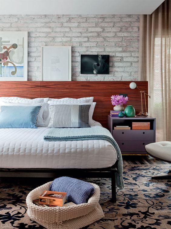 8 quartos com ideias de cabeceiras, enxovais, luminárias... - Casa: