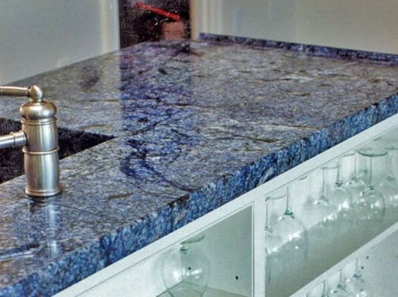 Blue Quartz Countertops Granite Hanstone Beach Kitchen