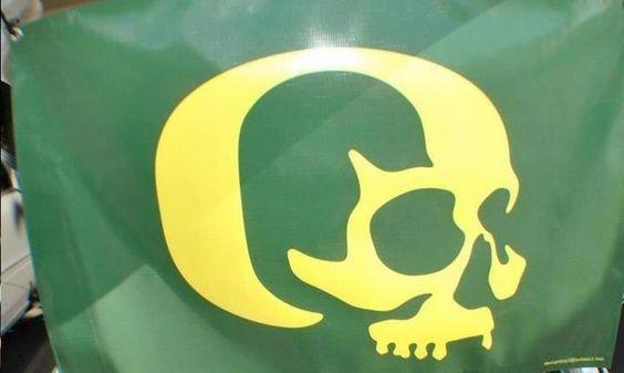 Oregon Ducks Skull Flag The Ducks Pinterest Flags