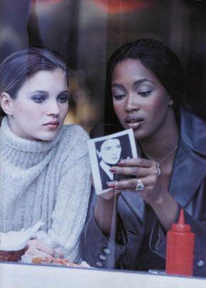 Kate Moss & Naomi Campbell Harper's Bazaar December 1994 by Peter Lindbergh: