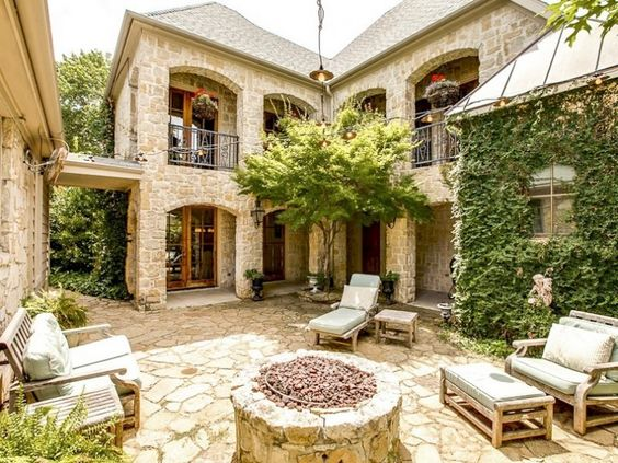 spanish style homes with garden House, Spanish Style Courtyard Home Plans: Transforming