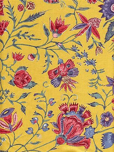 SOULEIADO SUMMER First printed in the south of France in the mid-seventeenth century, Souleiado fabrics represent the spirit of Provence. Today designers revisit this tradition: with sunny colors and lively detail, these old indienne prints capture the essence of summer, as well the romanticism of this bohemian province: