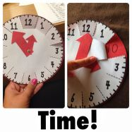 This tool is a handy arts project for students to keep at their desks. It is easy to make and effectively illustrates the relationship between minutes and hours. Since students can carry it around with them, it is an excellent tool for reinforcing number sense skills.: