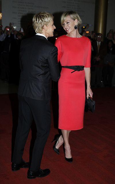 Portia de Rossi shows her support for wife Ellen DeGeneres ...