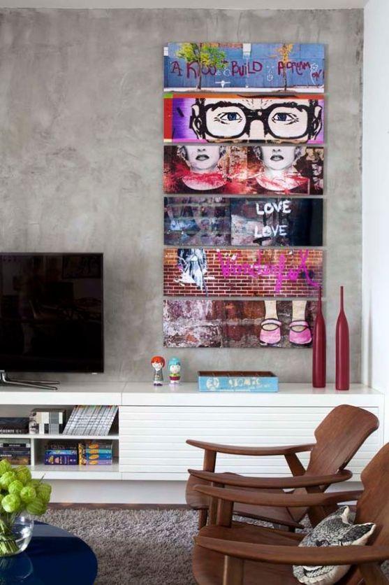 Apartamento alugado com personalidade (Foto: Denílson Machado, MCA Estúdio / Divulgação):