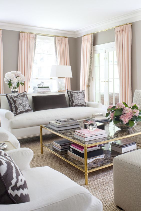 Decorating with Rose Quartz - Style Your Senses love the muted tranquil color palette and clean lines