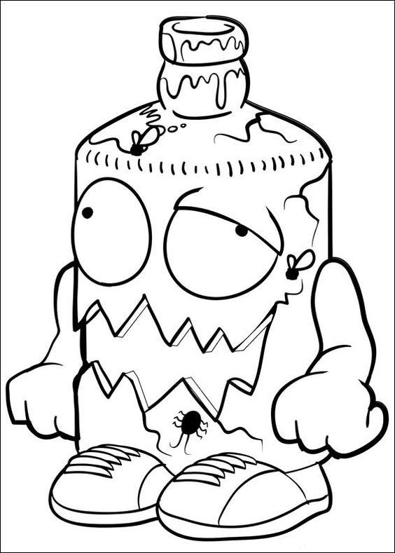 trash pack fargelegging for barn. tegninger for utskrift