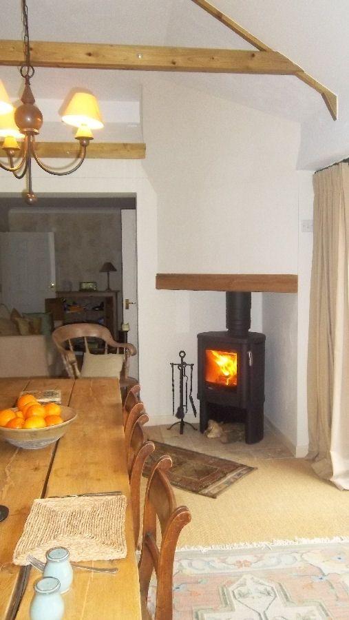 Contura 51l Wood Burning Stove In Neat Corner Fireplace