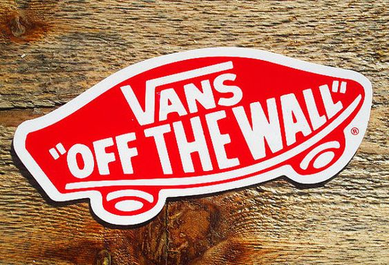 vintage 80s vans off the wall lg 5 skateboard sticker on off the wall id=52415