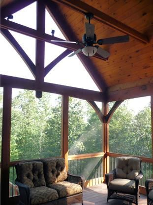Screened Porches Porches And Timber Frames On Pinterest