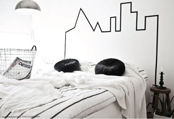 DIY: 5 ideias para decorar a sua casa com fita isolante - Black Tape #DIY #fitaisolante #decor #blacktape: