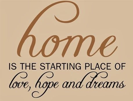 Image result for images & quotes on home dream