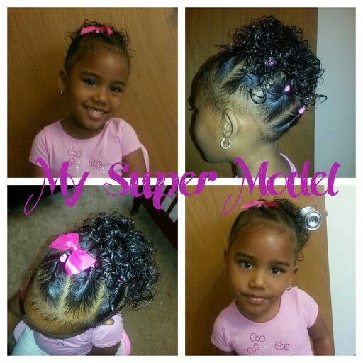 Twist into a ponytail  Mixed baby hairstyles  Miyah hair